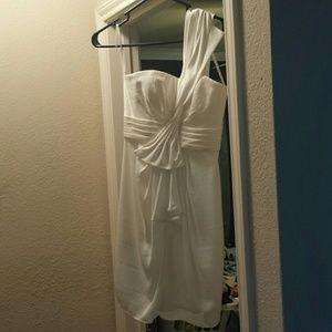 BCBG Dresses - White casual wedding/cocktail dress