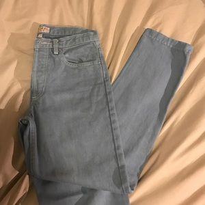 A.P.C. Denim - APC Madras high waisted cropped jeans