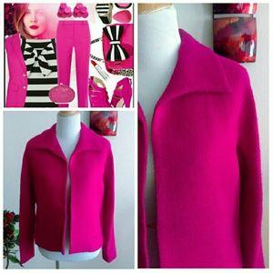 Jones New York Jackets & Blazers - HP ⬇Stylish Open Wool Blazer-Fuschia