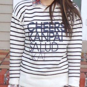 J. Crew Tops - Price Drop!❤️J. Crew Vintage CHEERS Sweatshirt
