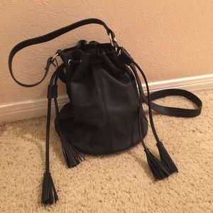 Black Tassel Bucket Bag
