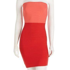 BCBGMAXAZRIA Aloyan Orange Dress