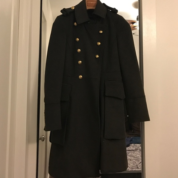 72% off Zara Jackets & Blazers - Zara Olive Green Pea Coat with