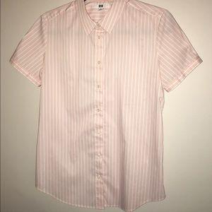 Uniqlo Striped Button Down Shirt
