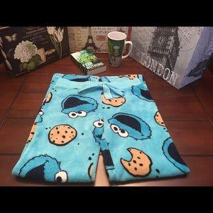 Sesame Street Other - Sesame Street Cookie Monster Pajamas Pants, Med.