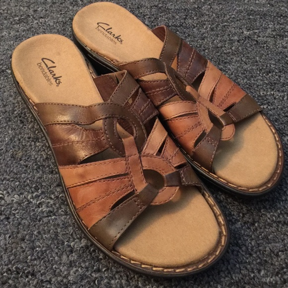 ffb8f79cf6a Clarks woven leather sandals new
