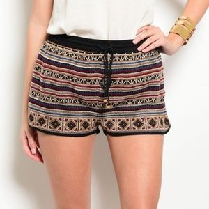 $10 & UNDER SALE!! Black Embroidered Shorts