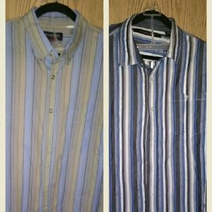 Two Mens Big And Tall Button Down Shirts