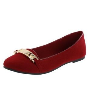 American Eagle by Payless Shoes - American Eagle Red Flats w/ gold-tone Btacelet