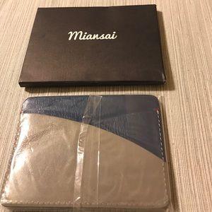 Miansai Accessories - NWT Miansai navy & gray cardholder.