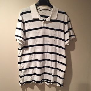 Old Navy Other - 🆕 Old Navy white and navy polo shirt. Size XXL