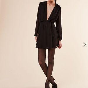 Reformation black loose dress