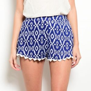 $10 & UNDER SALE! Patterned Shorts Crochet Hems