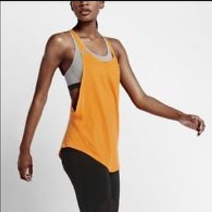 Nike elevate flow tank orange, deep back new