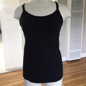 lululemon athletica Tops - Lululemon black luon top with bra, like new!