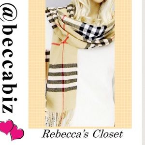 Accessories - Plaid Oblong Scarf