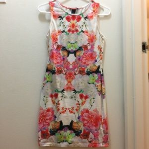 Worn H&M form-fitted floral dress, size small