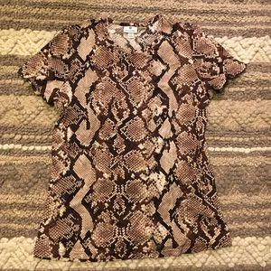 Altuzarra for Target snakeskin short sleeve tshirt