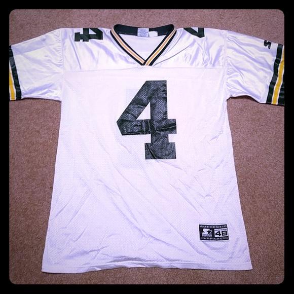 huge selection of 634a0 d2fa7 Starter Brett Favre Green Bay Packers Away Jersey