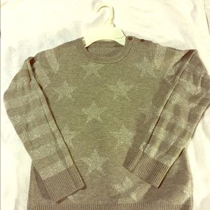 Other - Girl's Gray Sparkly Star Sweater -- Size 10-12