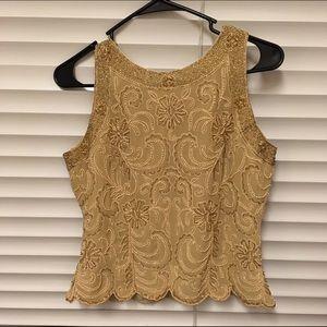 J Kara Tops - Nude vintages beaded dress top small