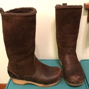 One of a kind No. 6 dark brown shearling boots