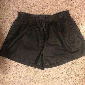 Zara Leather Look Shorts