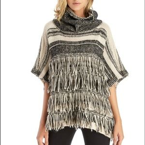 Fringe Stripe Sole Society Poncho