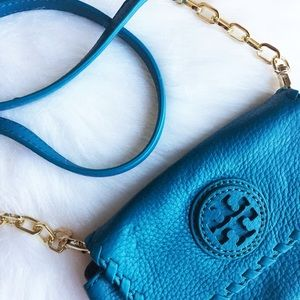 Tory Burch Handbags - TORY BURCH TURQUOISE MARION