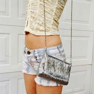 Handbags - Shiny Silver Purse