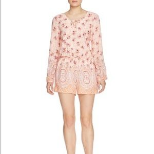 NWOT Sanctuary floral print long sleeve romper