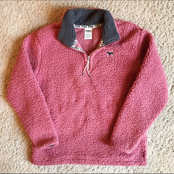 PINK Victoria's Secret - ❌SOLD❌ VS PINK Boyfriend Sherpa Quarter ...