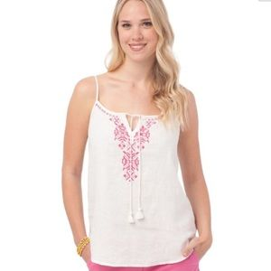Southern Tide Tops - NWT Southern Tide Linen embroidered tank
