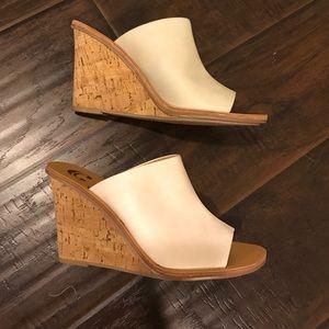 Charming Charlie Shoes - NWOT White slide mule wedges