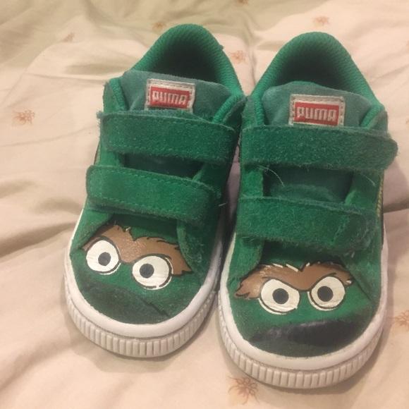 Puma Suede Sesame Street Oscar Shoes