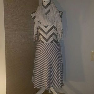 Max & Co. Dresses & Skirts - Gray and white striped skirt