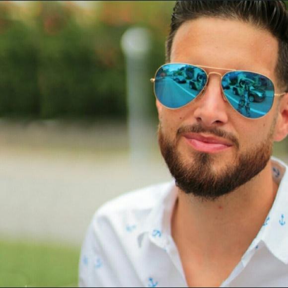 Rayban Blue Flash Aviator 59 Sunglasses Lowes Poshmark