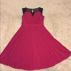 Dresses & Skirts - Lightweight burgundy a-line dress NWOT