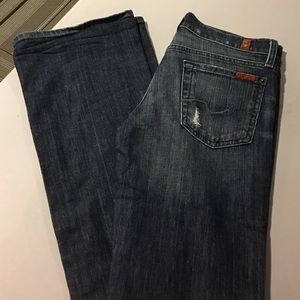 7FAM DISTRESSED BOOTCUT JEANS!!
