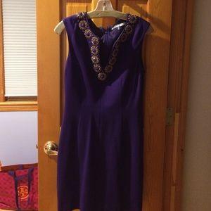 A purple Trina Turk dress