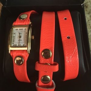 La Mer Accessories - New without tags La Mer watch in neon orange