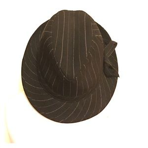 Accessories - Black With Pinstripes Fedora