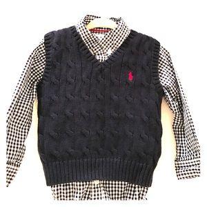 Ralph Lauren Other - Baby Boy Dress Shirt & Sweater Vest (18 Months)