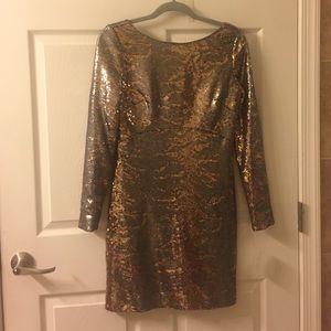 Silver/ Copper Sequins Dress