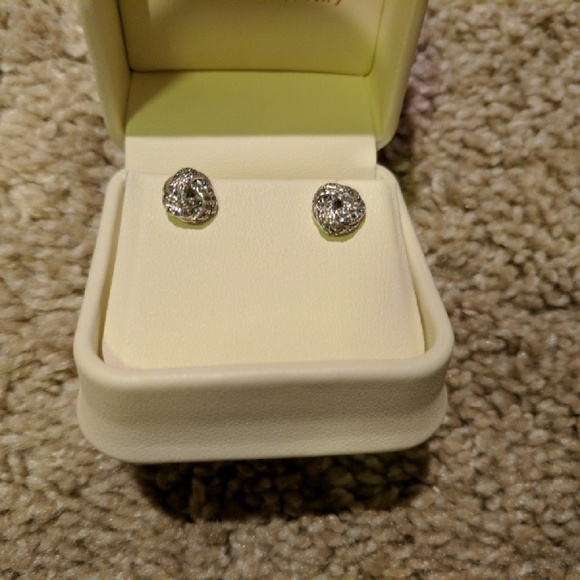 1877d10b6 Pandora Jewelry | Earrings Sparkling Love Knots | Poshmark