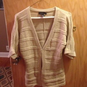Cable & Gauge Sweaters - Beige knit cardigan size s