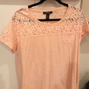Style & Co Tops - Adorable Petite cotton lacy shirt -Size PXL