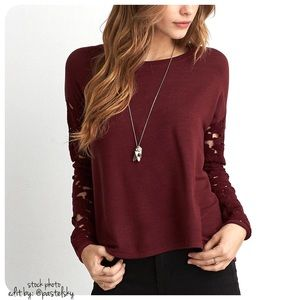 American Eagle Outfitters Sweaters - 🆕 AEO lacy sleeve sweater