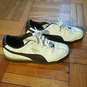 Puma Shoes - Puma Brown & White Sneakers - 7