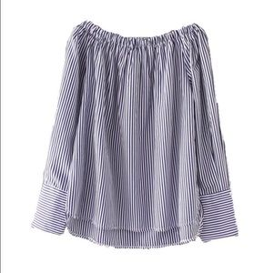 Goodnight Macaroon Tops - NWT Goodnight Macaroon off the shoulder stripe top
